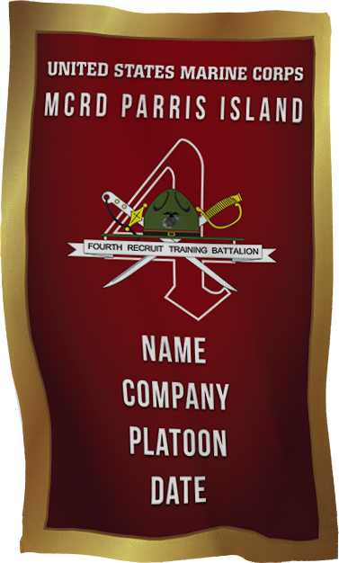 Rally Towel: 4th Recruit Btn, Parris Island (Customized)