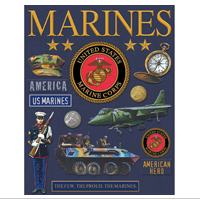 Stickers, Foil Deluxe Embossed, Marines
