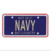 Embellishment, License Plate, Navy