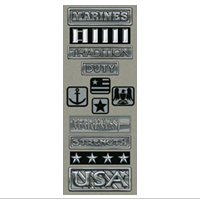 Embellishment, Metal-look, Marines 2