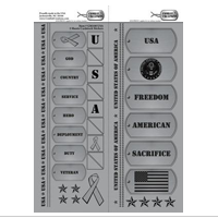 Sticker, Cardstock, Dog Tag U.S.A.