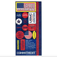Stickers, Cardstock Reminisce Marine Sayings