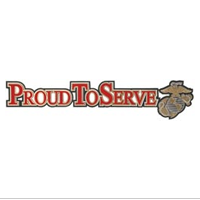 Embellishment, Raised Die-Cut: Proud To Serve (w/ EGA)
