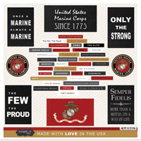 Stickers, Marine Words