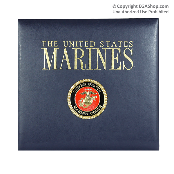Scrapbook Album: 12x12 Leather, Marines