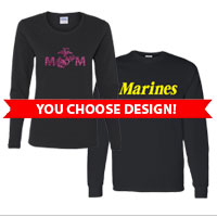 _Long Sleeve Unisex or Ladies' T-shirt (Black Only): You choose design
