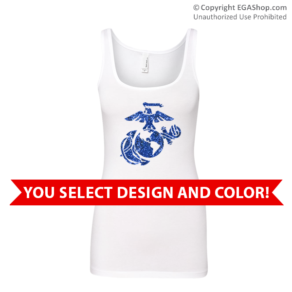 _Ladies Tank Top: You Choose GLITTER Design
