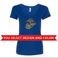 _Ladies V-Neck: You Choose GLITTER Design