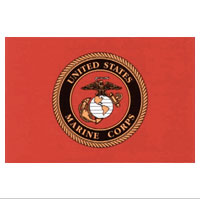 Z Decal, Marine Corps Seal/Red Background