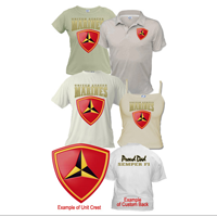 Custom Division (3rd Mar Div) Apparel (Short Sleeve)