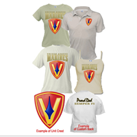 Custom Division (5th Mar Div) Apparel (Short Sleeve)