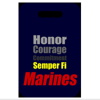 Stadium Cushion: Semper Fi Marines (Blue)
