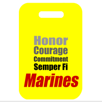 Stadium Cushion: Semper Fi Marines (Yellow)