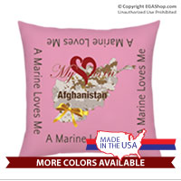 Pillow Sham: My Heart is in Afghanistan (14x14)