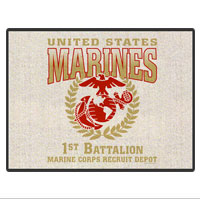 Doormat: 1st Recruit Btn (18x24)