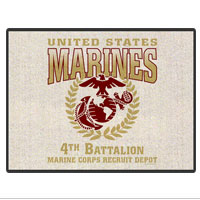 Doormat: 4th Recruit Btn (18x24)