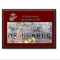 Plaque: 9/11 We Remember 1/7 B Co Marines