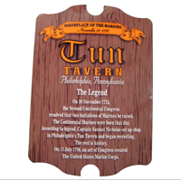 Hardboard Sign: Tun Tavern