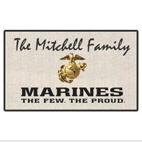 "Doormat: Customizable 18"" x 24"" The Few. The Proud."