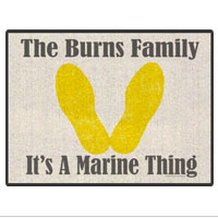 "Doormat: Customizable 18"" x 24"" Yellow Footprints"