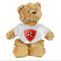 Plush Teddy Bear: 3rd Marine Division (customizable)