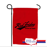 Garden Flag: Red Friday Support Troops