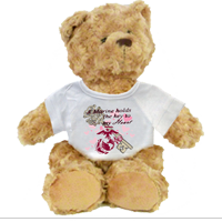 Plush Teddy Bear: A Marine Holds The Key to My Heart