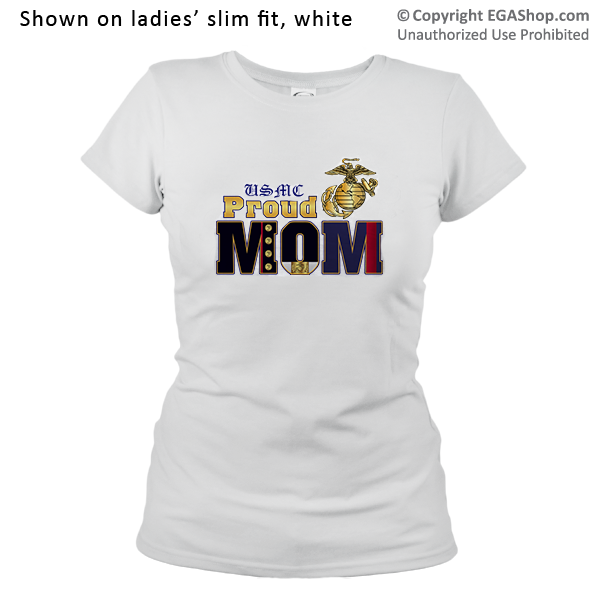 _T-Shirt (Ladies): Dress Blue Mom