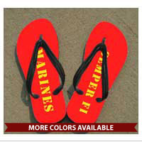 Flip Flops: (adult or youth sizes) MARINES & Semper Fi