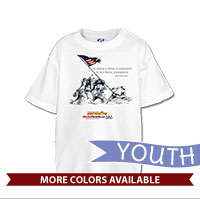_T-Shirt (Youth): SemperToons - Iwo Jima Wolf Quote