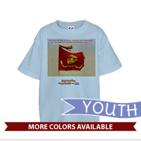 _T-Shirt (Youth): SemperToons - Let Our Flag Fly