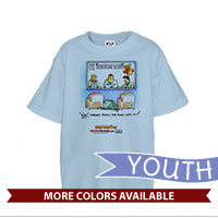 _T-Shirt (Youth): SemperToons - Born into it