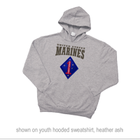 _Youth Hoodie or Long Sleeve Shirt: 1st Marine Division