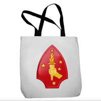 Tote Bag: 2nd Marine Division (16x16)