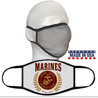 Face Covering: Red Marines Seal