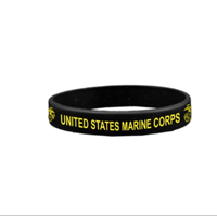 Wristband: Marine Corps (Black and Yellow)