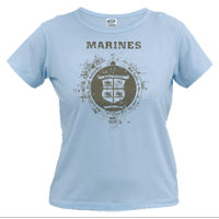 X Vintage T-Shirt (Ladies): 3/11 Marines