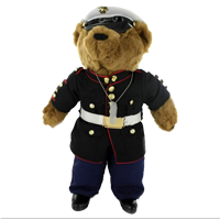 Plush: CUSTOMIZED Marine Corps Bear in Dress Blue Uniform (20 Inch)