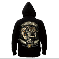 Sweatshirt, Hooded Pullover: Bulldog (Black Ink Design)