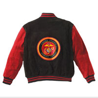 Jacket: (Suede) Seal on Reverse, US Marines Front