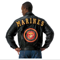 Jacket: (Leather) Marines and Seal on Reverse