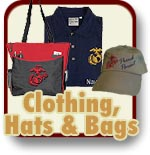 Clothing Hats and Bags for Marine Corps families