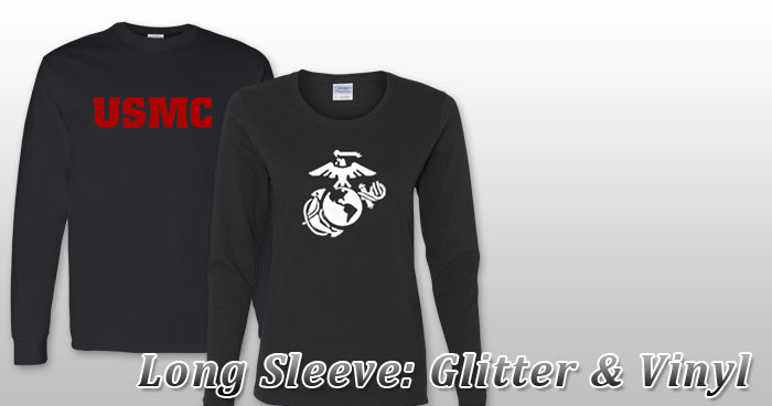 Long Sleeve: Glitter and Vinyl