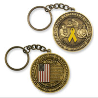 Keychain: Marine Mother Coin