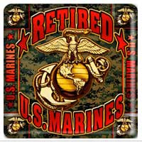 Paperboard Coaster Set: Retired US Marines (#19)