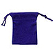 "Z Accessory, Small 2 1/2"" x 3 1/2"" Velour Pouch - Blue"