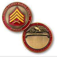 Custom Engraved Rank Coin, E-5 (Sergeant)