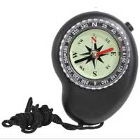 Compass: Black, LED