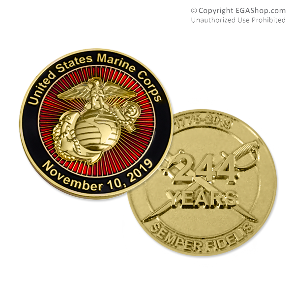 Coin 2019 Marine Corps Birthday Limited Edition