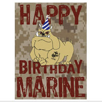 _Card Shop: Marine Corps Birthday, Package of 6